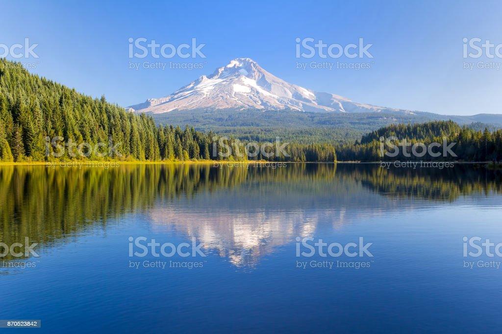 Mt. Hood Trillium See an einem sonnigen blauen Himmel Tag in Oregon USA – Foto