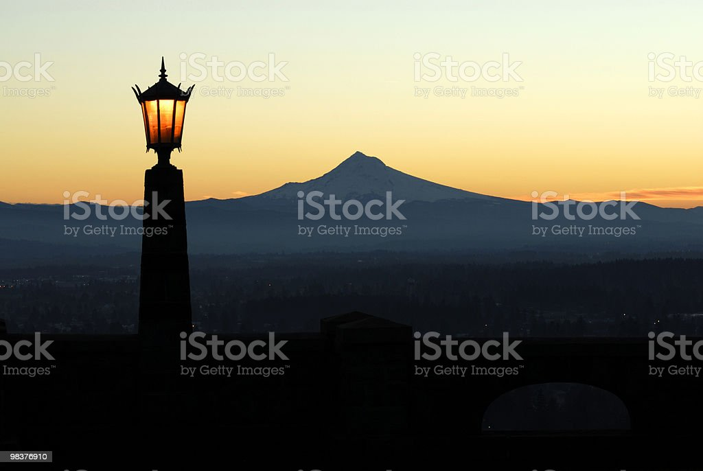 Mt Hood from Rocky Butte royalty-free stock photo