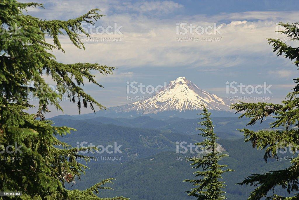 Mt. Hood in Oregon stock photo