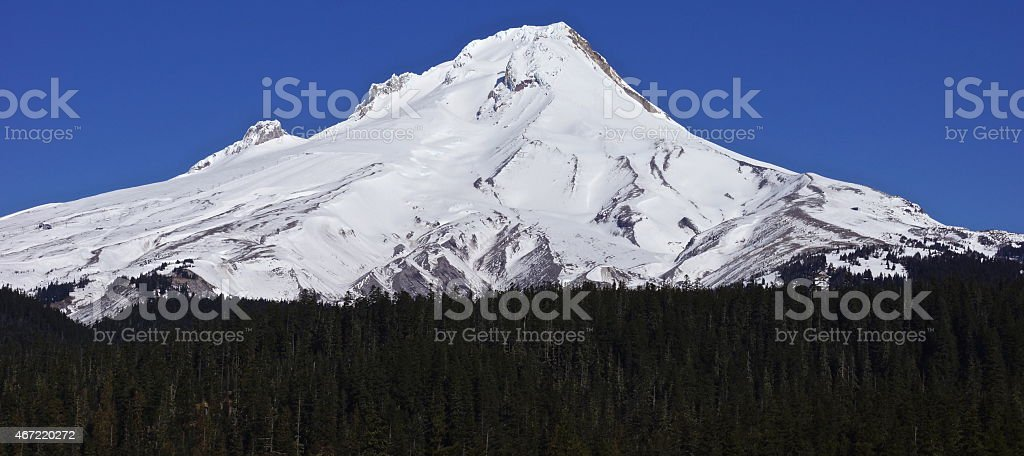 Mt. Hood March stock photo