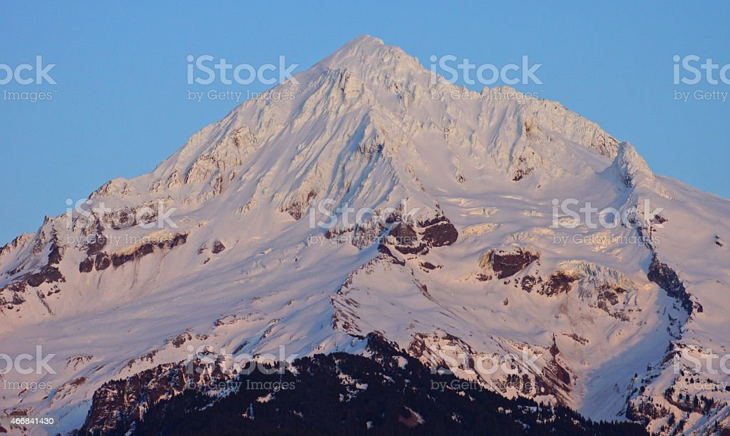 Mt. Hood Natural Fire stock photo