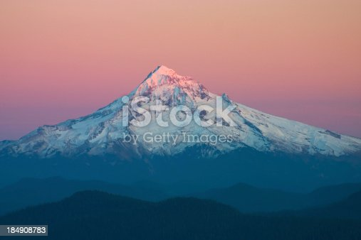 Mt Hood at sunset from Larch Mountain.