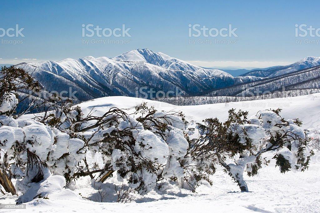 Mt Hotham in Winter stock photo