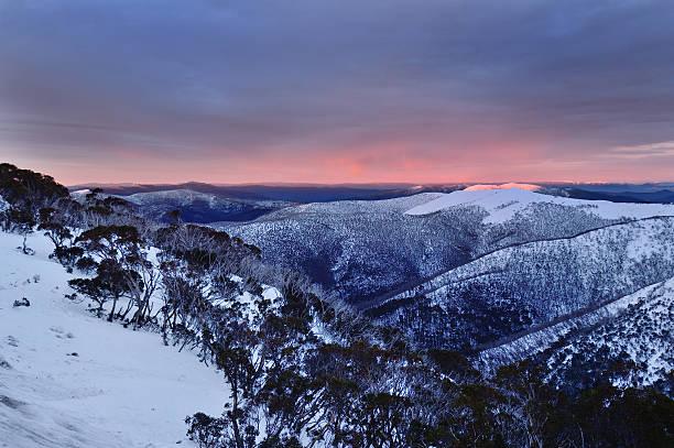 Berg Hotham Berge Sonnenaufgang Australien – Foto