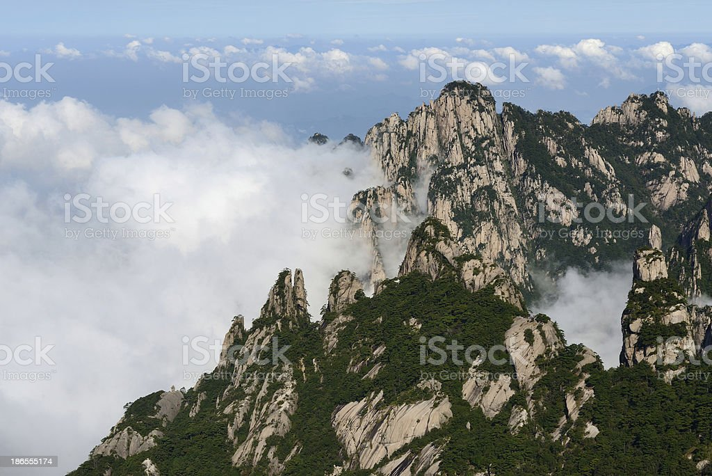 Mt. Huangshan and cloudscape royalty-free stock photo