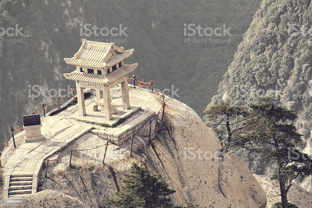 Mt  Huashan chess pavilion royalty-free stock photo