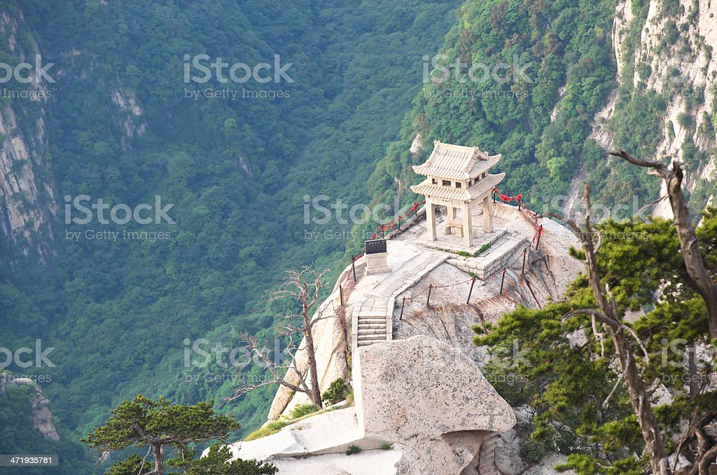 Mt  Huashan chess pavilion royalty-free stock photo