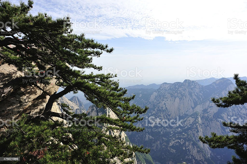 Mt Huashan stock photo