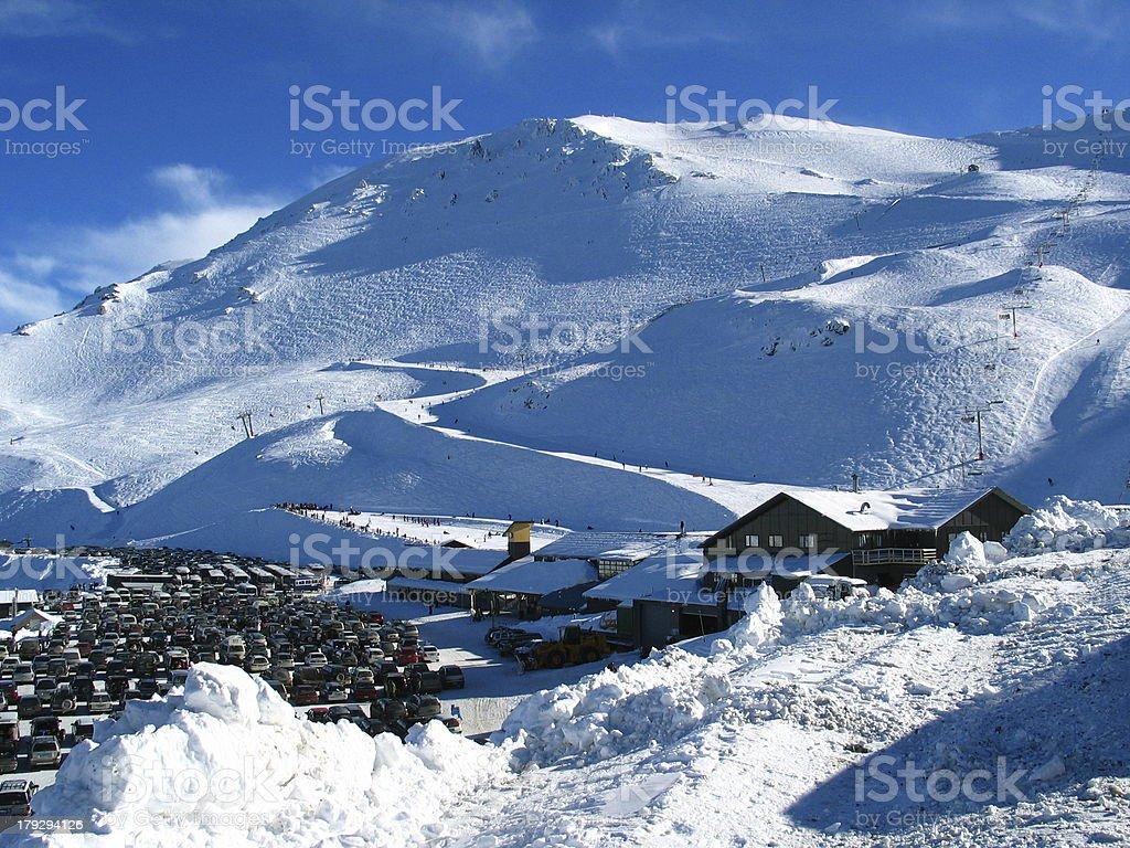 Mt Hutt Ski Resort royalty-free stock photo