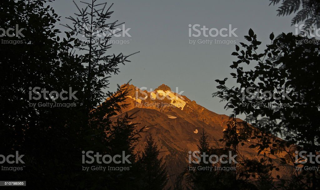Mt. Jefferson Alpine Blaze stock photo