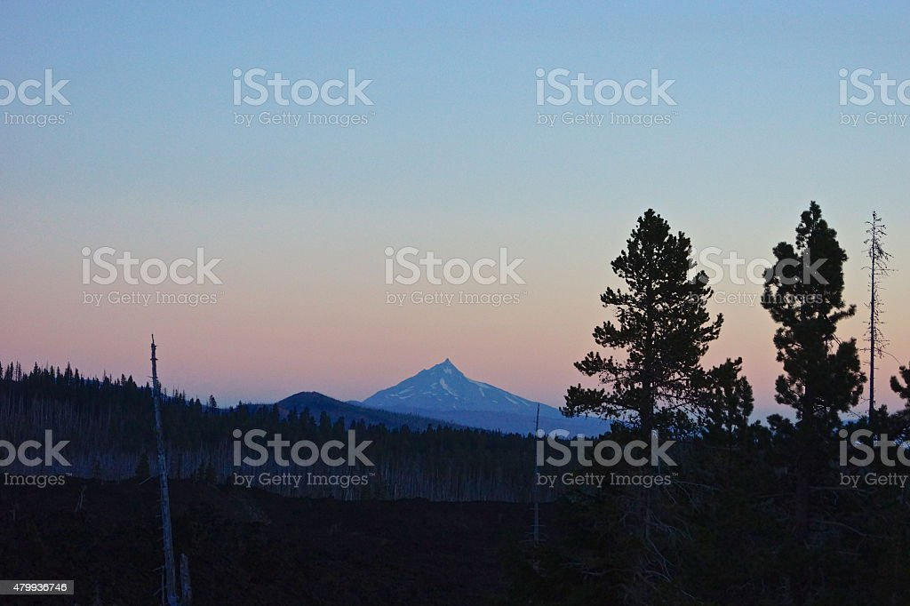Mt. Jefferson Dawn stock photo
