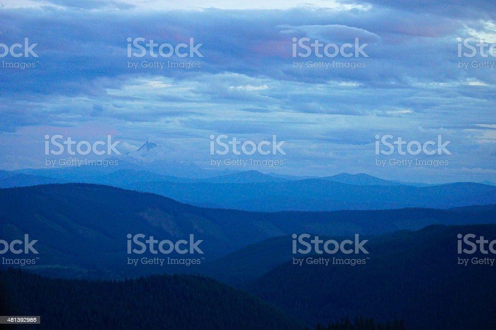 Mt. Jefferson Dusk stock photo