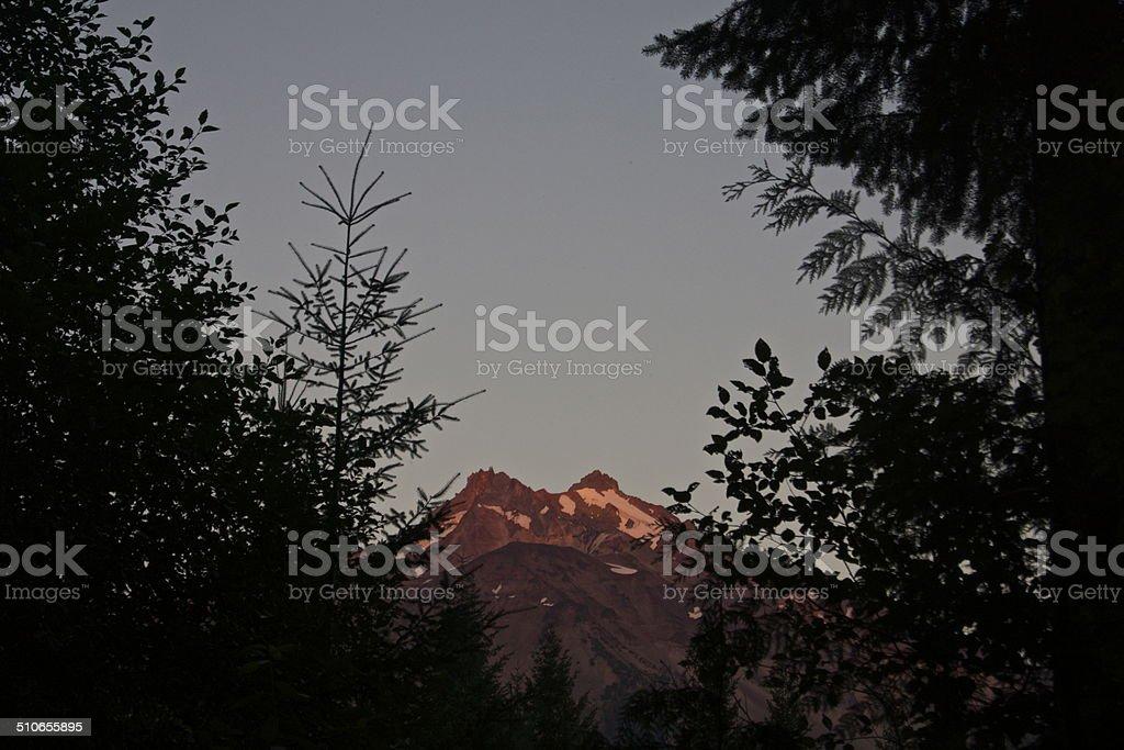 Mt. Jefferson Firewall stock photo