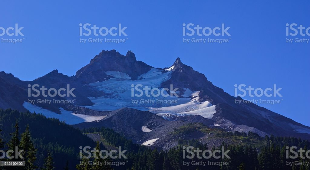 Mt. Jefferson Glacier stock photo
