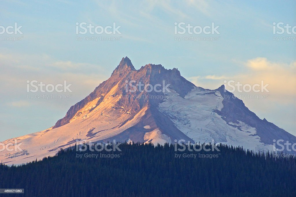 Mt. Jefferson Glaciers stock photo
