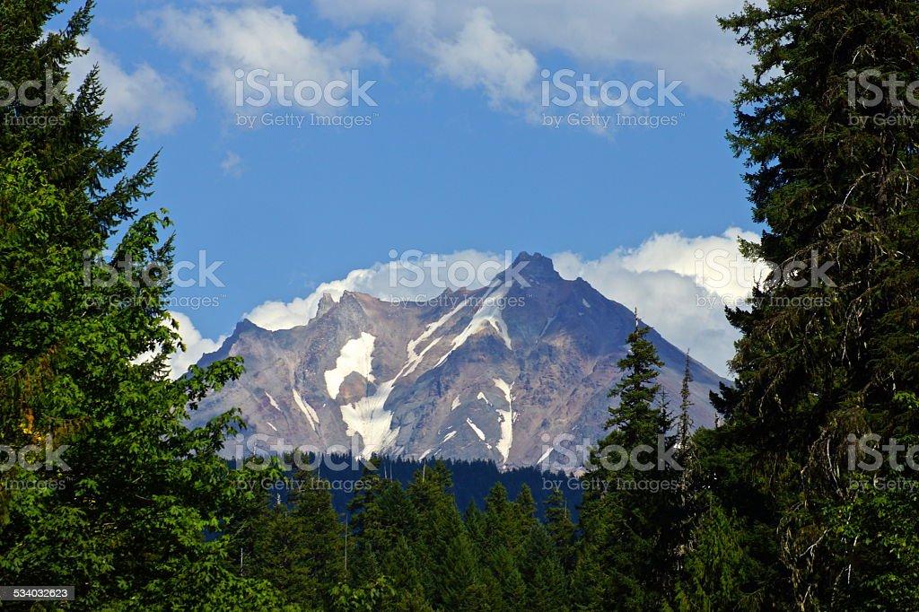 Mt. Jefferson High Window stock photo