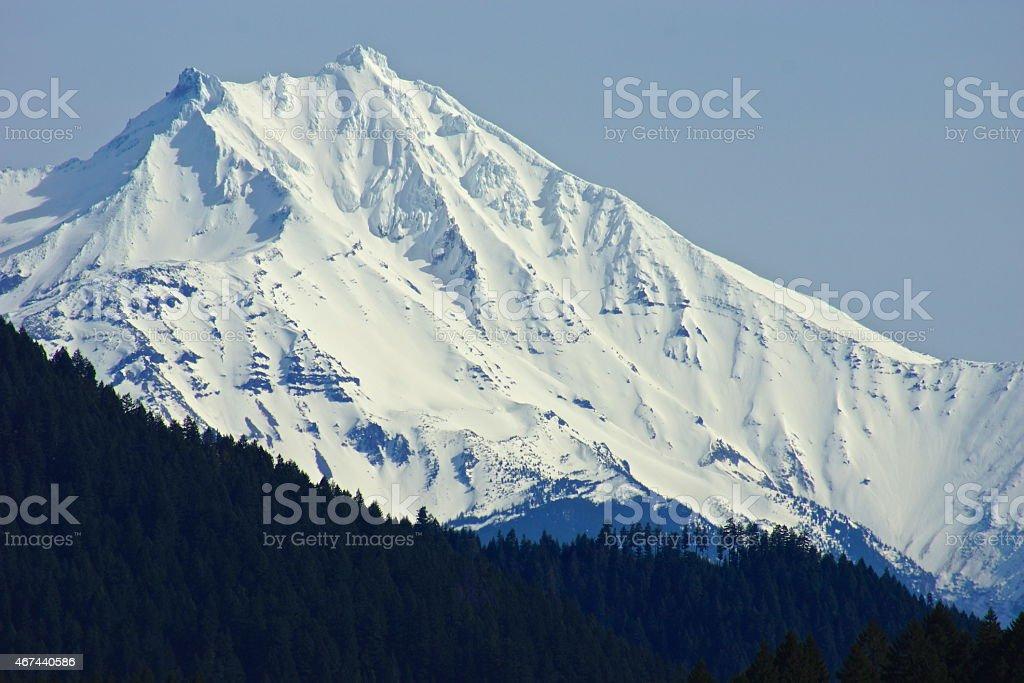 Mt. Jefferson Ice stock photo