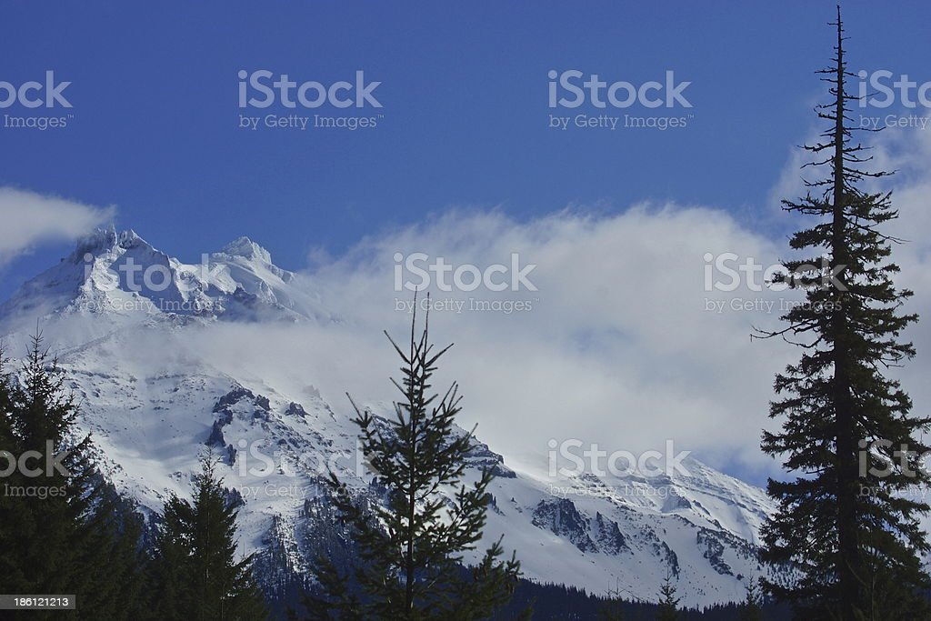 Mt. Jefferson In October stock photo