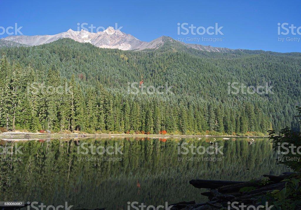 Mt. Jefferson Lake stock photo