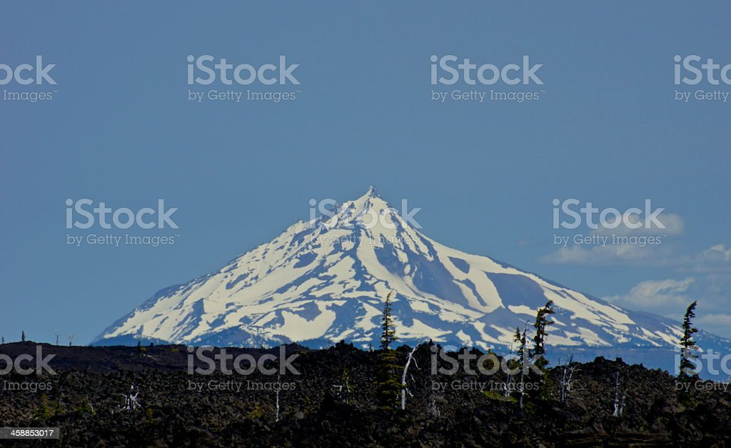 Mt. Jefferson Lava stock photo