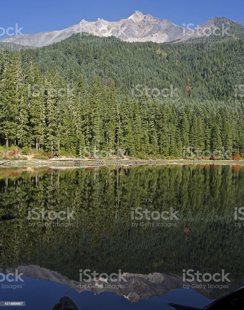 Mt. Jefferson Mirror stock photo