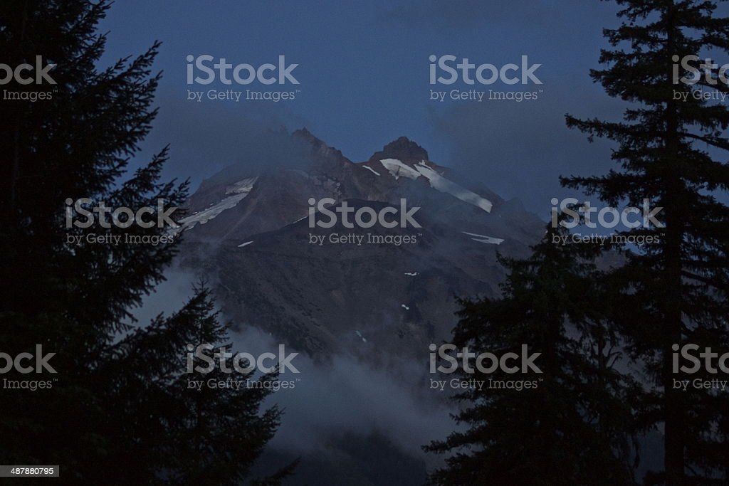 Mt. Jefferson Nightfall stock photo