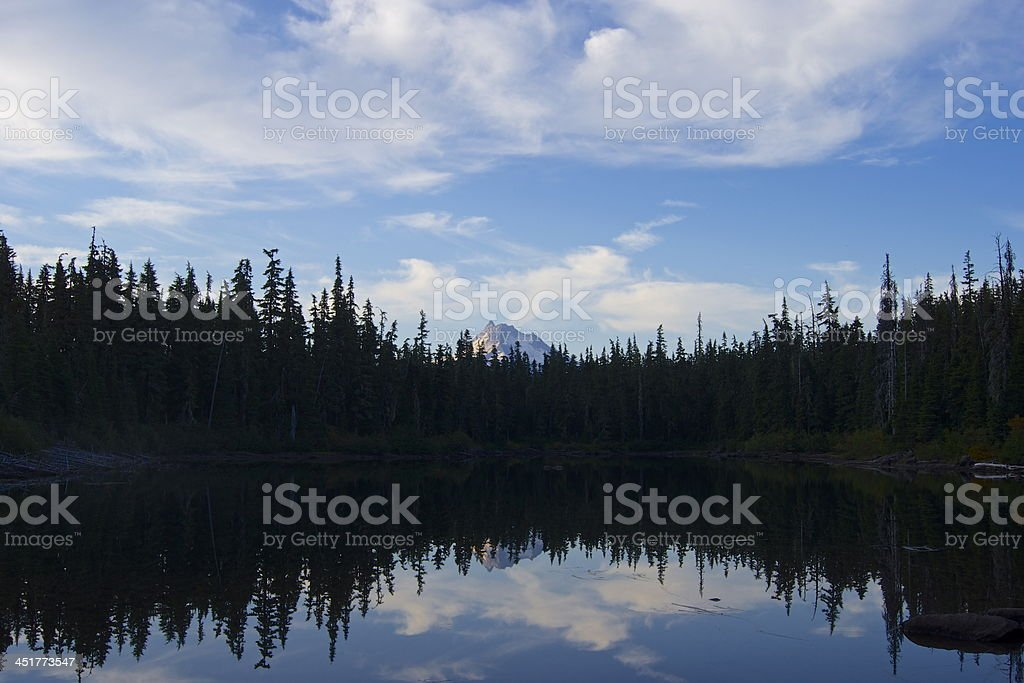 Mt. Jefferson Primitive stock photo