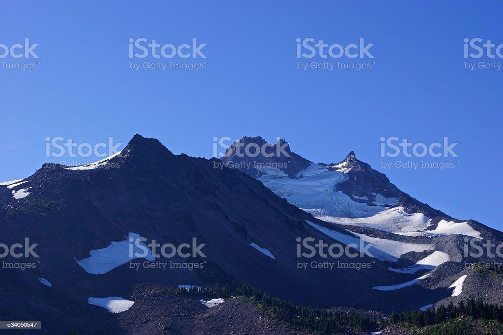 Mt. Jefferson Purple stock photo