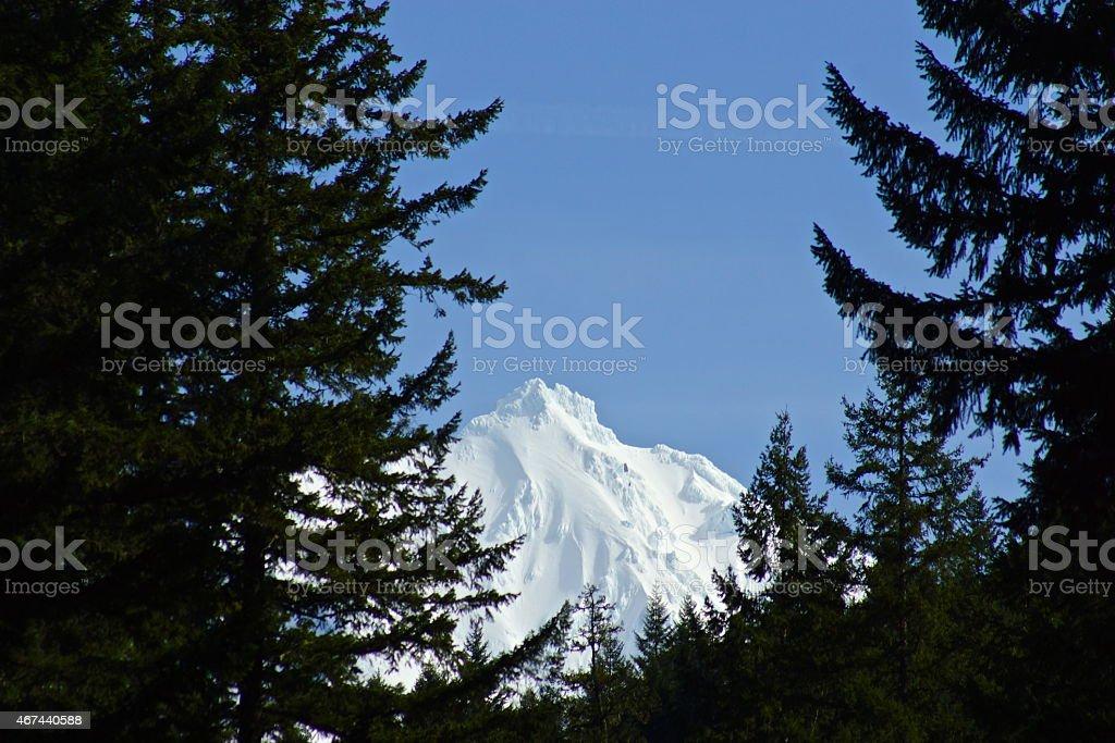 Mt. Jefferson Stealth Summit stock photo