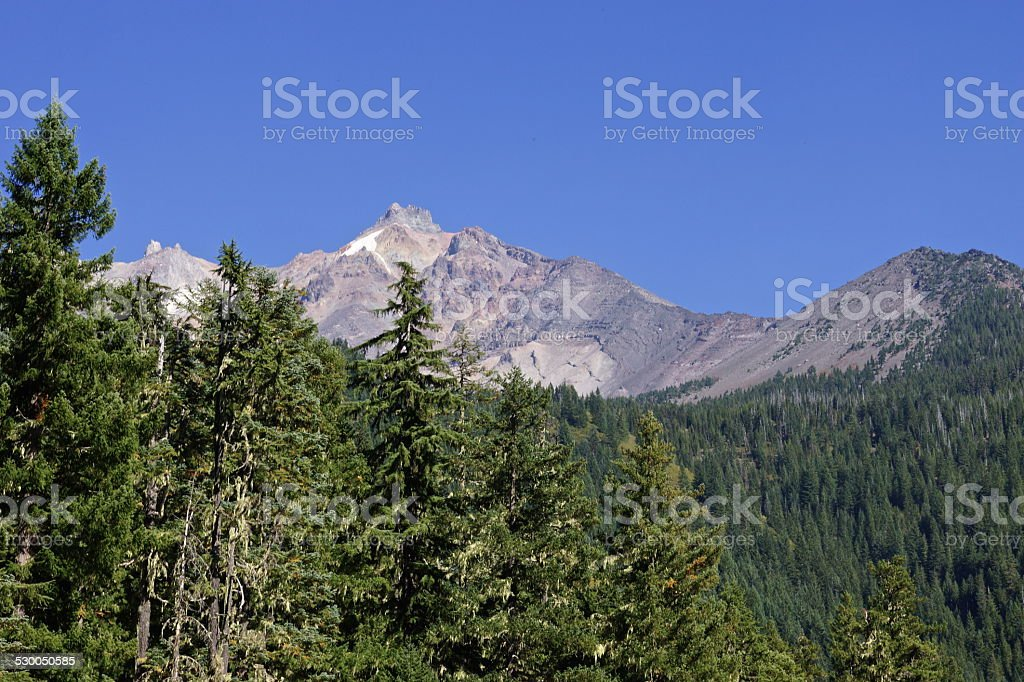 Mt. Jefferson Steep Stone stock photo