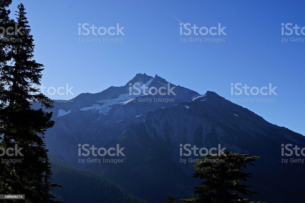 Mt. Jefferson Stone Pyramid stock photo
