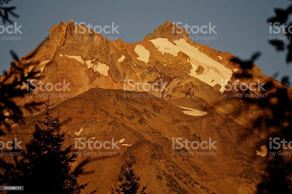 Mt. Jefferson Sunset stock photo