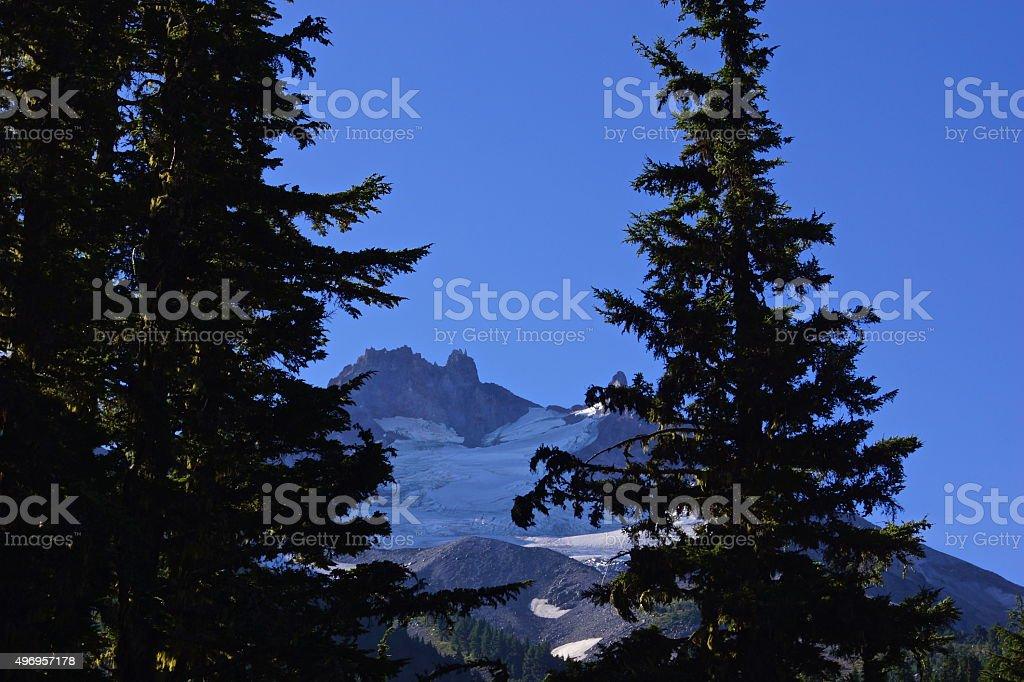 Mt. Jefferson Window stock photo