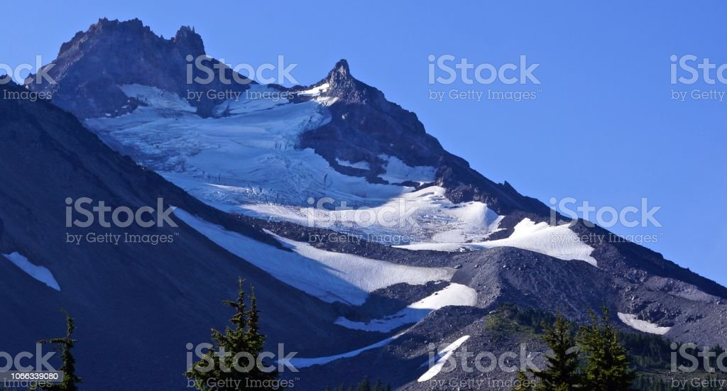 Mt. Jefferson Zen stock photo