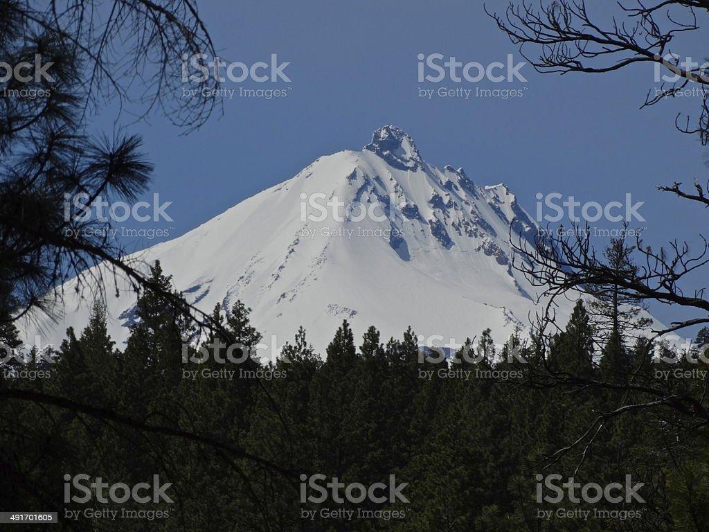 Mt. Jefferson Zoom stock photo