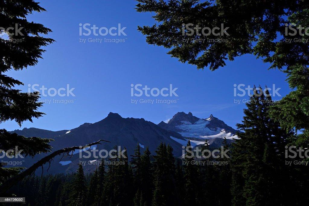 Mt. Jefferson's Rugged Ridge stock photo