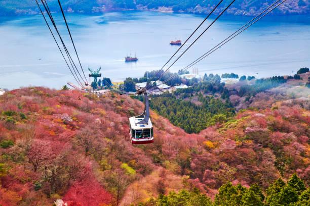 mt. komagatake ropeway at hakone, kanagawa prefecture, japan. - prefektura kanagawa zdjęcia i obrazy z banku zdjęć
