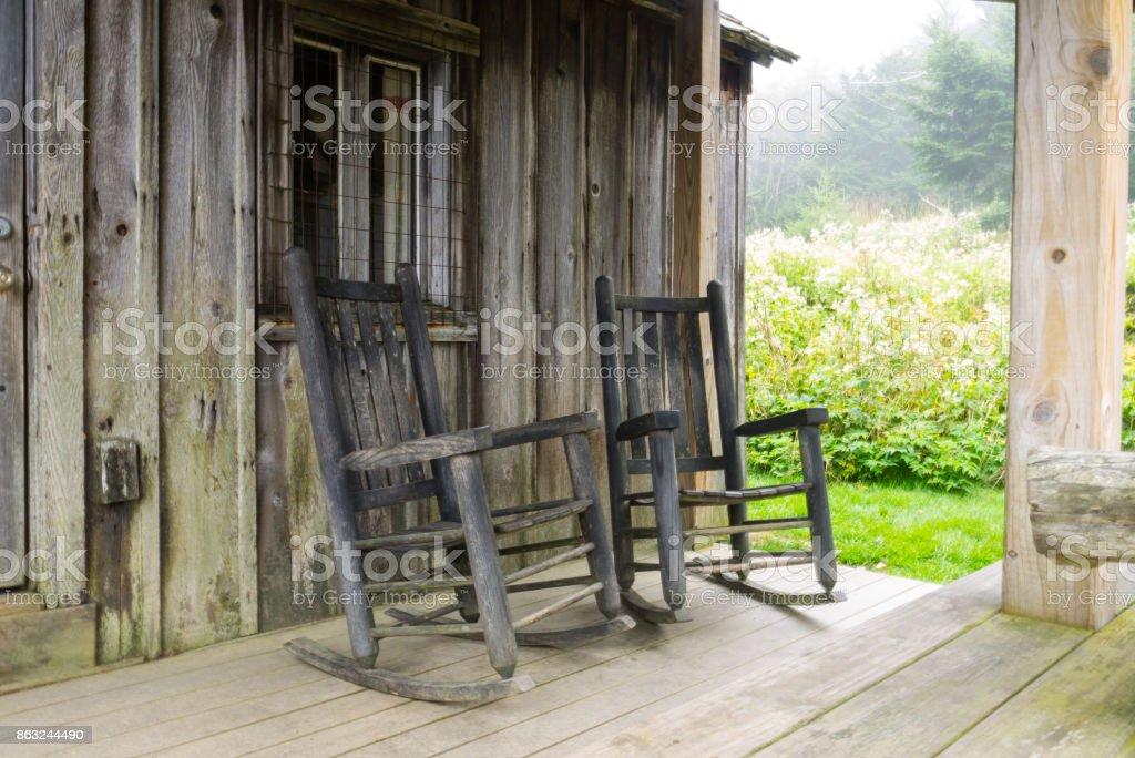 Mt LeConte Cabin stock photo