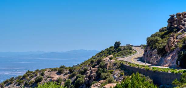 Mt Lemmon Scenic byway near Tucson, Arizona stock photo