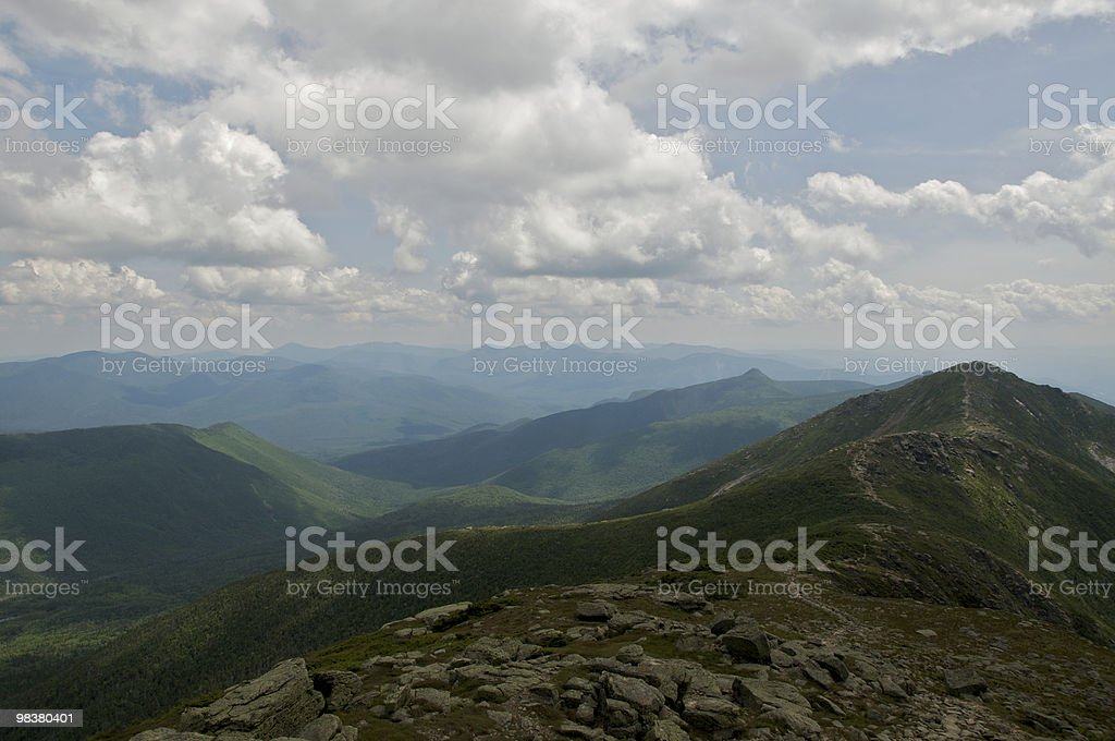 Mt. Lincoln from summit of Lafayette royalty-free stock photo