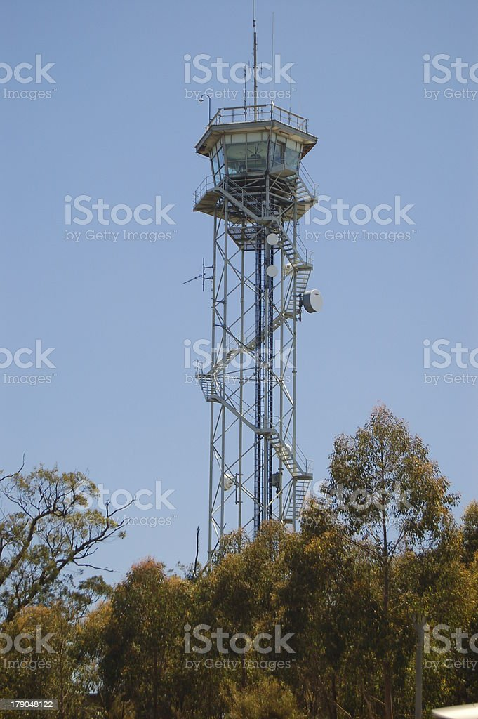 Mt. Lofty Lookout Tower stock photo