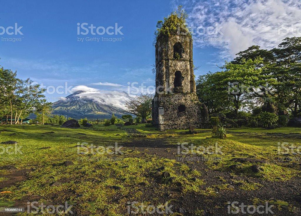 Mt. Mayon - Cagsawa Ruins stock photo