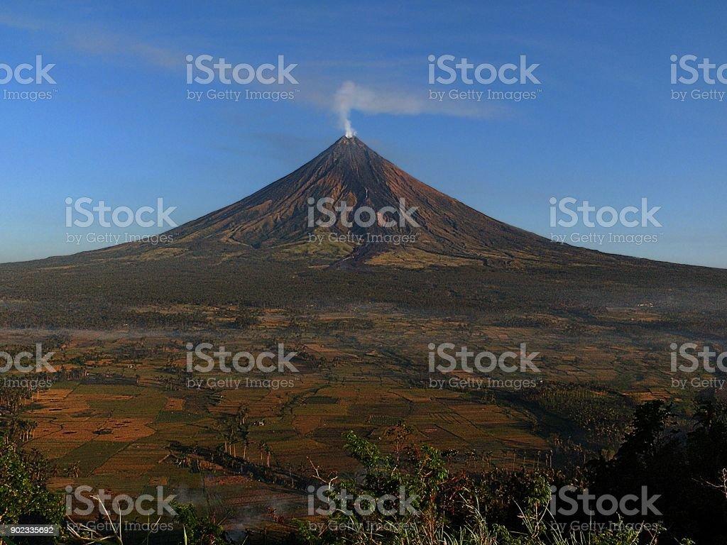 Mt. Mayon stock photo