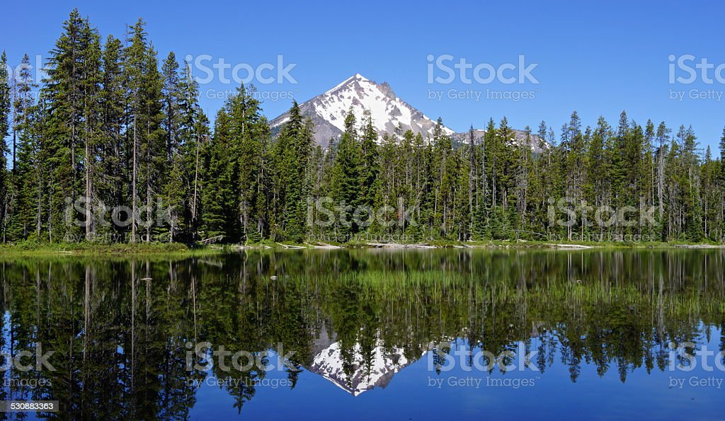 Mt. McLoughlin Pond stock photo