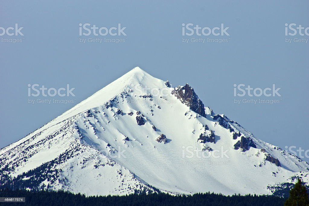 Mt. McLoughlin Pyramid stock photo