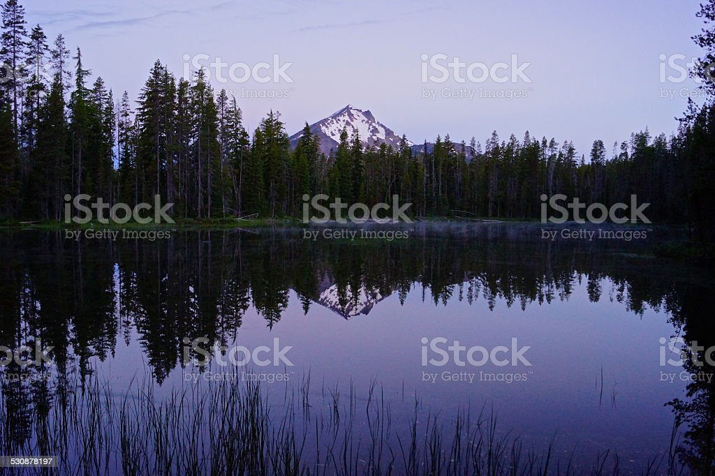 Mt. McLoughlin Silver Haze stock photo