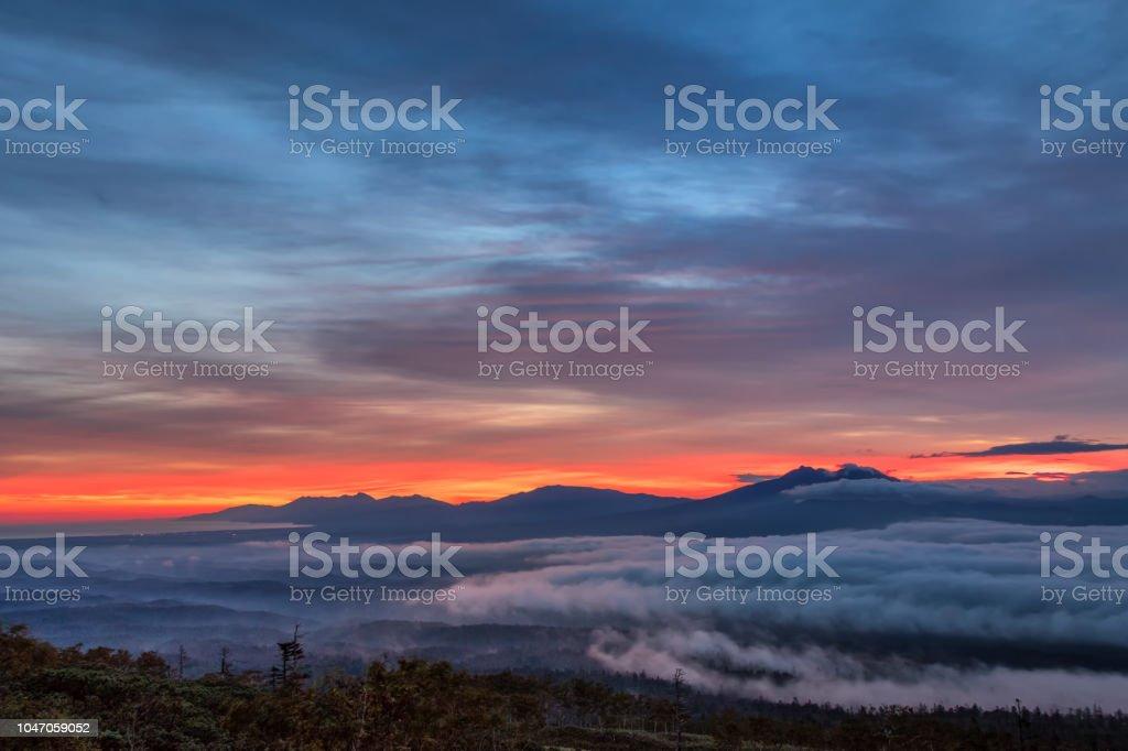 早朝の山 Mokoto(Mokotoyama) ストックフォト
