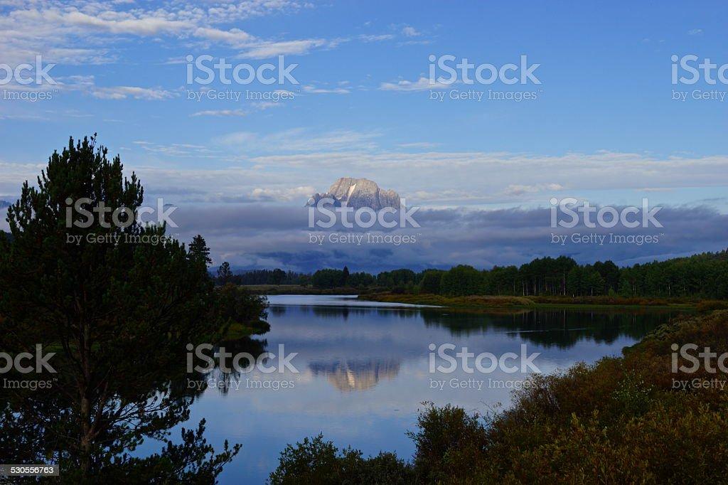 Mt. Moran Mirror stock photo