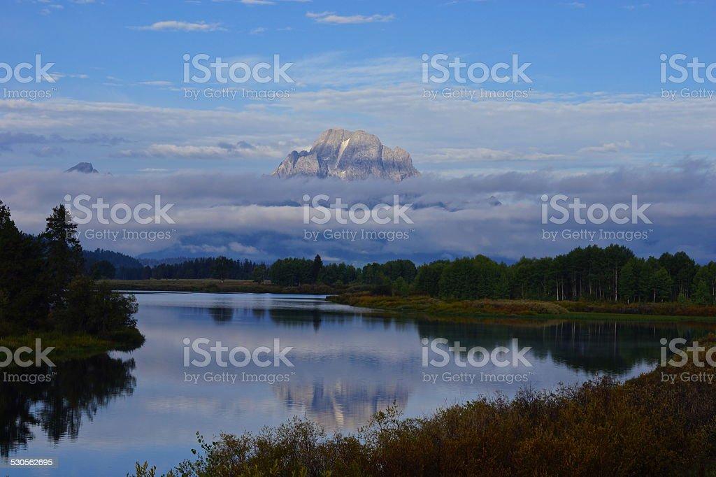 Mt. Moran Mystic stock photo