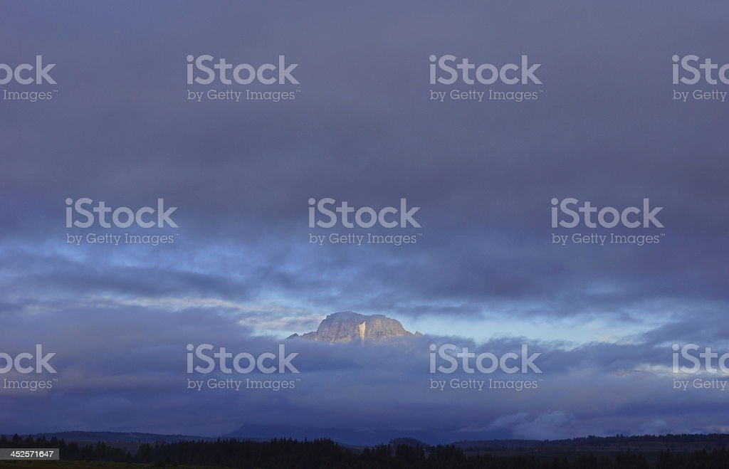 Mt. Moran's Crown Window stock photo